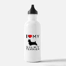 I love My Silky Terrier Water Bottle