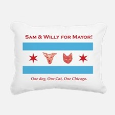 Sam willy for mayor flag Rectangular Canvas Pillow
