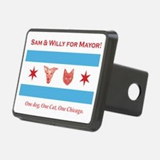 Sam willy for mayor flag t Hitch Cover