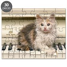 piano kitten panel print Puzzle