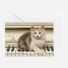 piano kitten panel print Greeting Card