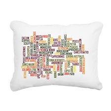 ConstellationsWordle Rectangular Canvas Pillow