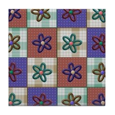 Quilted pretty Tile Coaster