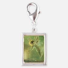 Mystical Lake Fairy Silver Portrait Charm