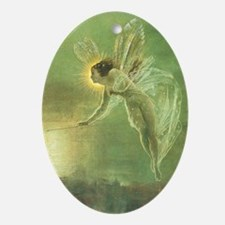 Mystical Lake Fairy Oval Ornament