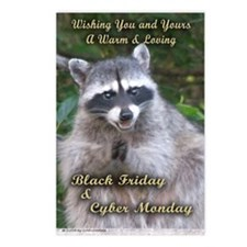 Black Friday card Postcards (Package of 8)
