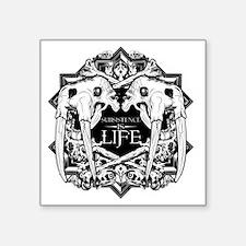"Subsistence is Life - Walru Square Sticker 3"" x 3"""