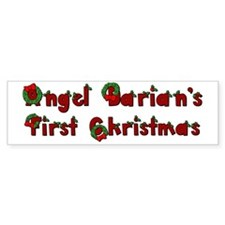 Angel Darians First Christmas cop Bumper Sticker