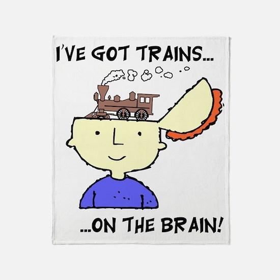train_Brain2 Throw Blanket