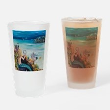 Young Mermaid getting ready. final Drinking Glass