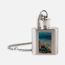 Young Mermaid getting ready. final Flask Necklace