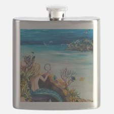 Young Mermaid getting ready. final Flask