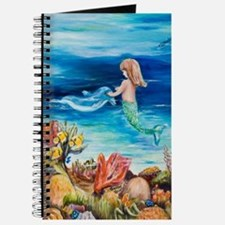 Young Mermaid with Dolphine. final Journal