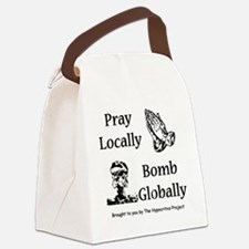 prayandbomb Canvas Lunch Bag