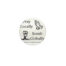 prayandbomb Mini Button