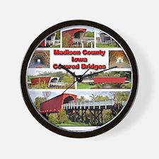P-MadisonCoBridges-T-Shirt Wall Clock