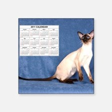 "showcatcalmousepad Square Sticker 3"" x 3"""