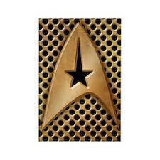 star-trek-brass-grid_3g Rectangle Magnet