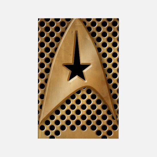 star-trek-brass-grid_i4s Rectangle Magnet