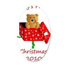 first xmas 2010 Oval Car Magnet