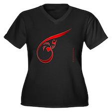 eshgh-4misc3 Women's Plus Size Dark V-Neck T-Shirt