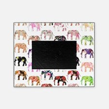 Girly Whimsical Retro Floral Elephan Picture Frame