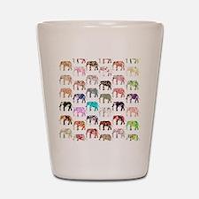 Girly Whimsical Retro Floral Elephants  Shot Glass