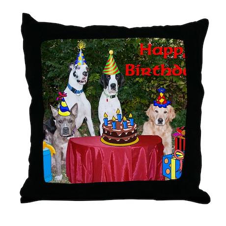 BirthdayCard Throw Pillow