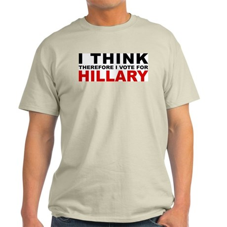 Vote For Hillary Ash Grey T-Shirt