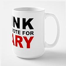 Vote For Hillary Large Mug