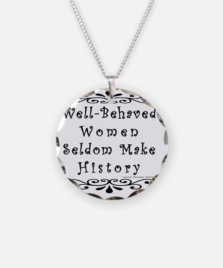 well-behaved-transparent Necklace Circle Charm