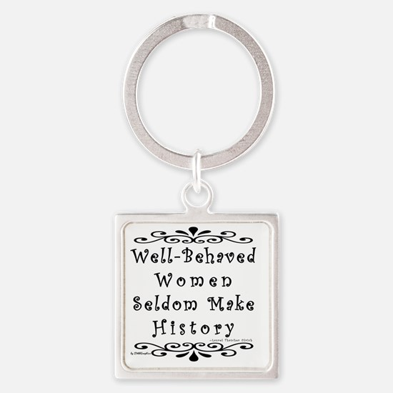 well-behaved-transparent Square Keychain
