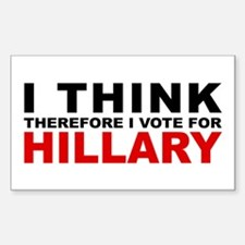 Vote For Hillary Rectangle Decal