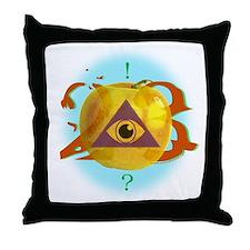 Illuminati Golden Apple Throw Pillow