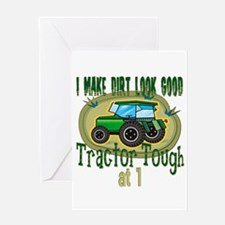 Tractor Tough 1st Greeting Card