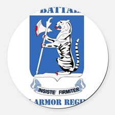 DUI - 77th armor rgt with text Round Car Magnet