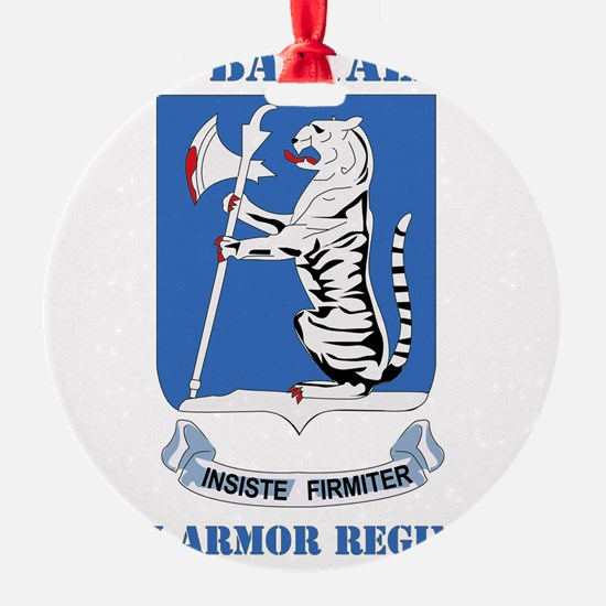 DUI - 77th armor rgt with text Ornament
