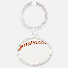 smokaccinoDrk Oval Keychain