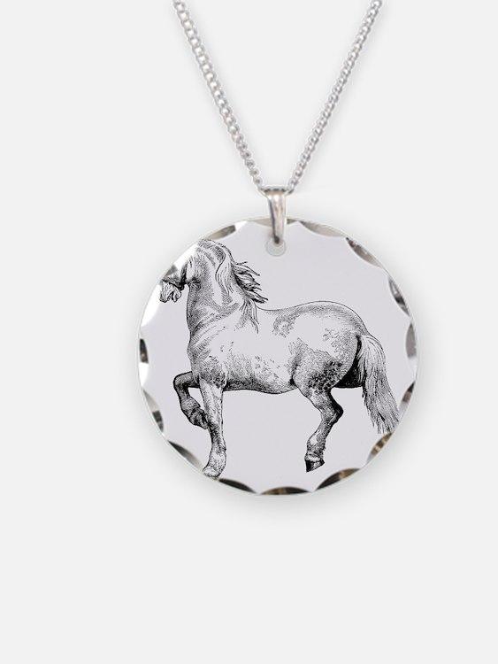 Horse Illustration3 - Copy Necklace