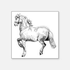 """Horse Illustration3 - Copy Square Sticker 3"""" x 3"""""""