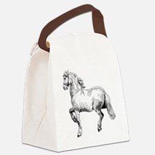 Horse Illustration3 - Copy Canvas Lunch Bag