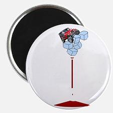 On Rocks Martini WHITE Magnet