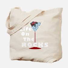 On Rocks Martini WHITE Tote Bag