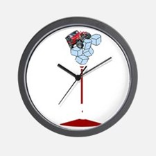 On Rocks Martini WHITE Wall Clock