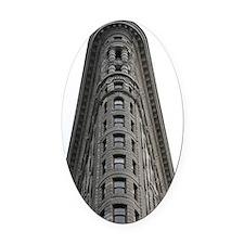 flatiron Oval Car Magnet