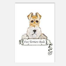 Fox Terriers Rule Postcards (Package of 8)