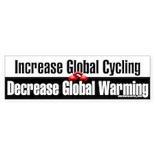 """Increase Global Cycling"" Bumper Sticker"