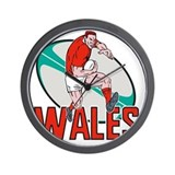 Welsh rugby Wall Clocks
