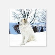 """great pyrenees Square Sticker 3"""" x 3"""""""
