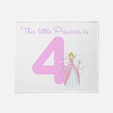 Princess Birthday Custom Age Throw Blanket
